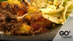 Gratineret mash af kartofler og gulerødder med kødsovs