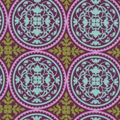 pretty fabric for curtains.  Joel Dewberry - Aviary 2 - Ironwork in Lilac