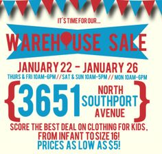 Warehouse Sale#beyondthepark#chicagoevents