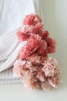 DIY No Sew Pom Pom Napkins | lark & linen