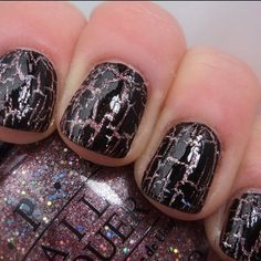 crackle nail polish! This is the type I saw in the store! A MUST HAVE!!! @Charlotte @Jessie Roett