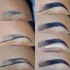 53 Ideas For Makeup Tutorial Brows Make Up – – Eyebrows World Eyebrow Makeup Tips, Makeup 101, Contour Makeup, Skin Makeup, Eyeshadow Makeup, Beauty Makeup, Makeup Looks, Makeup Eyebrows, Eye Brows