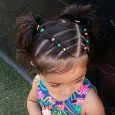 Cute Hairstyles For Toddler Woman With Brief Hair - Girls hairdos - Baby Hair Easy Toddler Hairstyles, Lil Girl Hairstyles, Girls Hairdos, Princess Hairstyles, Easy Hairstyles, Cute Hairstyles For Toddlers, Toddler Hair Dos, Girl Toddler, Mixed Baby Hairstyles