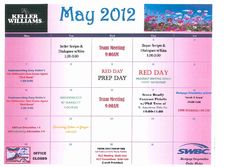 Keller Williams Fort Worth May Training Calendar.  Come get your learning on!!