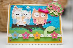 "Paisley Pair Designs: Cricut Create a Critter Mother's Day Card ""From OWL of us"""