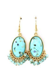 Turquoise Mother of Pearl Jenna Earrings | Emma Stine Jewelry Earrings