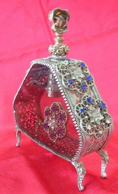 Stunning Large French Perfume Bottle Circa 1900 from molotov on Ruby Lane