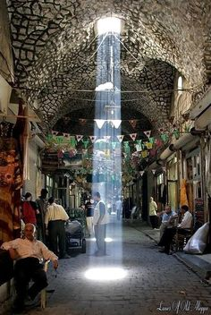 Old covered bazar (Souq el Madinah) #Aleppo-Syria