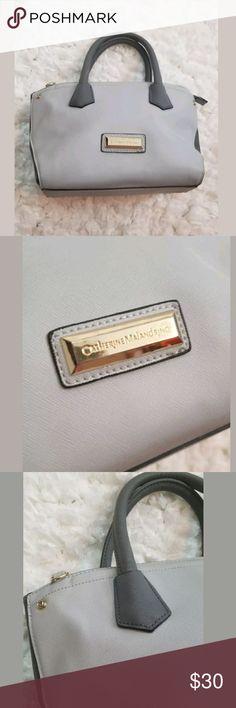 Catherine Malandrino gray handbag Catherine Malandrino two tone gray handbag 100% polyurethane for easy care size 9x6x14 Catherine Malandrino Bags