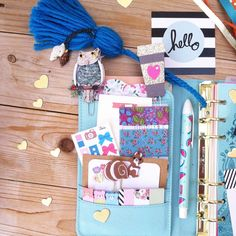 A gorgeous vacation/beach theme kit consisting of a ribbon paper clip, a beautiful turquoise tassel with 2 sea shells charms and a washi tape