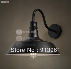 Loft Vintage Restaurant Bar pastoral industry American country single head aluminum cap Wall Lamp E27 FREE SHIPPING