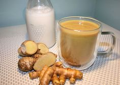 Blend Turmeric + Ginger With Coconut Milk. Drink Before Bed To Flush Liver Toxins While You Sleep : Blend Turmeric + Ginger With Coconut Milk. Drink Before Bed To Flush Liver Toxins While You Sleep Coconut Milk Drink, Coconut Milk Recipes, Coconut Oil, Coconut Milkshake, Honey Drink, Almond Milk, Turmeric Golden Milk, Turmeric Tea, Turmeric Spice