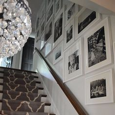 Dear Lillie: Finally - A Gallery Wall For Our Stairway Stair Photo Walls, Stair Walls, Stairs, Stairway Photos, Stairway Gallery Wall, Gallery Walls, Stairwell Decorating, Interior Decorating, Decorating Ideas