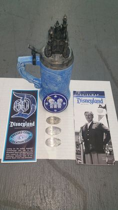 """BUY IT NOW""... ONLY $25.99 (WE ACCEPT ""PAYPAL"" And MOST MAJOR CREDIT CARDS) ... NEW ""DISNEYLAND 60th DIAMOND ANNIVERSARY Limited Edition STEIN MUG""... NOW ""COMPLETELY SOLD-OUT"".... PLUS ALSO INCLUDED : (2) COMPLETE SETS OF (3) DISNEYLAND 60th DIAMOND ANNIVERSARY PRESSED COINS ... ALSO ""COMPLETELY SOLD-OUT""... (PLEASE CLICK-ON THE PICTURE TWICE TO SEE ALL THE GREAT DETAILS AND MORE GREAT PICTURES OF THE MUG AND COINS)... #DISNEYLAND #DISNEYLAND60 #STABUCKS #DisneylandPressedCoins #CoffeeMugs"