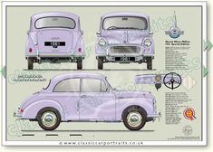 British Car, Morris Minor, Old Classic Cars, Water Cooling, Car Drawings, Vintage Cars, Automobile, Engineering, Portraits