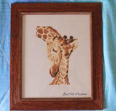 Vervaco's Giraffes poster   cross stitch poster
