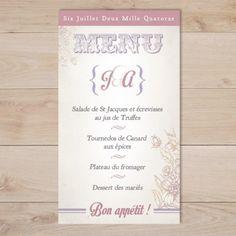 menu mariage retro vintage moustache et lèvre rouge | Sweet Paper - Création de faire part sur mesure et boutique en ligne - Faire part mari...