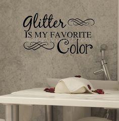 Nail Salon Art Spa Art Glitter Is My Favorite by KatiesVinylDecor