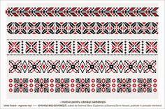 motiv de camasa barbateasca Cross Stitch Borders, Cross Stitch Designs, Cross Stitch Patterns, Folk Embroidery, Embroidery Designs, Loom Beading, Beading Patterns, Wedding Album Design, Palestinian Embroidery
