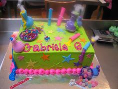 A4 Science themed cake iced in green butter icing by Charly's Bakery, via Flickr