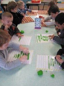Lignes horizontales en pâte à modeler Grande Section, Petite Section, Math Activities For Kids, Motor Activities, Pre Writing, Writing Skills, Montessori, Handwriting Lines, Physical Development
