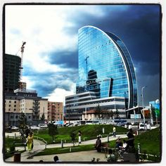 The Blue Sky Tower in central Ulaanbaatar, Mongolia.