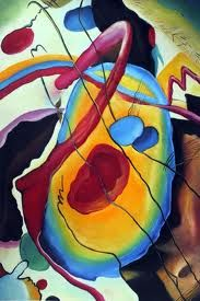 kandinsky - you don't have to understand it but there is a lot involved in his paintings!!!