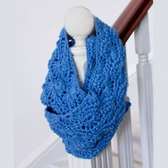 My Favourite Things: A Unique Gift ~ Infinity Scarf Pattern- lots of great patterns on her site.