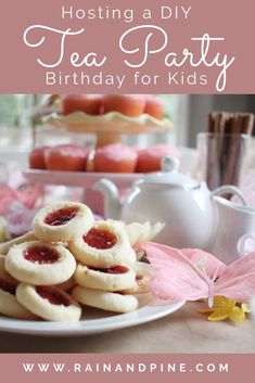 How to Host a DIY Tea Party for a little girls birthday party. Ideas from this party include fun crafts like decorating tea party hats and sugar cookies. Lots of easy and simple food ideas. This party is easy and fun to throw! – Rain and Pine