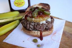 Hawaiian Burger with Caramelized Pineapple and Crisp Bacon by alanagkelly, via Flickr