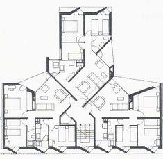 Análisis Proyectual II: José Antonio Coderch - Conjunto de viviendas La Maquinista, Barcelona (1951)