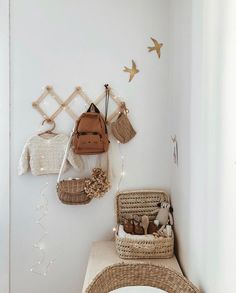 Cute changing corner🖤 by PS., the swallows will arrive soon at our warehouse💫 Baby Bedroom, Baby Room Decor, Nursery Room, Vintage Nursery Boy, Cool Kids Bedrooms, Deco Kids, Nursery Inspiration, Nursery Ideas, Nursery Neutral