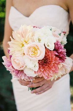 Bouquet inspiration: This is my favorite bouquet - love the flower varieties and color. Would like mine to be a little smaller