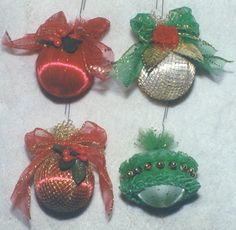 Tulle decorated ornaments