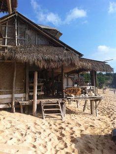 Beach huts at Balangan. Bali