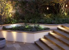 Outdoor Step Lighting Ideas Outdoor Step Lighting Ideas For A Romantic Look Of Your Yardled Outdoor Steps, Patio Steps, Landscape Lighting, Outdoor Lighting, Lighting Ideas, Outdoor Step Lights, Sign Lighting, Garden Wall Lights, Garden Lighting For Steps