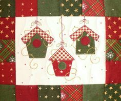 1000 ideas about patchwork navidad on Christmas Applique, Christmas Sewing, Christmas Crafts, Xmas, Small Quilts, Mini Quilts, Mug Rug Patterns, Quilt Patterns, Fabric Postcards