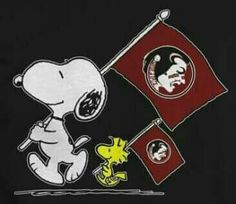 Even Snoopy And Woodstock Love The Noles!