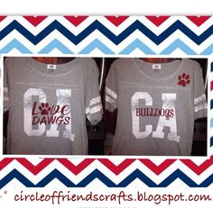 Old Navy CA shirt with added bling with heat transfer vinyl - Photo on Circle of Friends Crafts