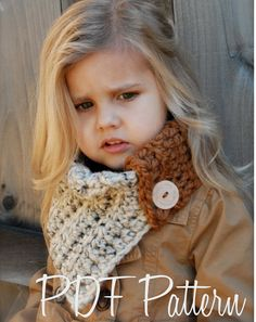 Crochet PATTERNThe Aspen Cowl Toddler Child and by Thevelvetacorn, $5.50