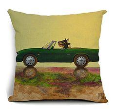 Dececos Puppy Motoring Home Decorative Cotton Linen Blend...