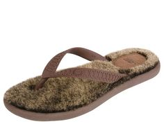 Womens Fluffie Chocolate Metallic Gold - $44.99