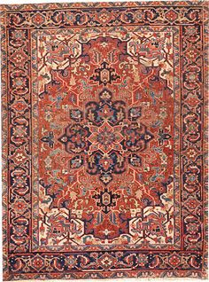 Heriz rug  size approximately 4ft. 9in. x 6ft. 3in.