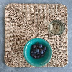Things to buy for the house on pinterest jute rug for Small square placemats
