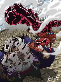 [One Piece] These are 5 reasons Kaido is so feared Ace One Piece, One Piece Luffy, Manga Anime One Piece, One Piece Fanart, One Piece Pictures, One Piece Images, Kaido One Piece, Fruit Du Demon, One Piece Wallpaper Iphone