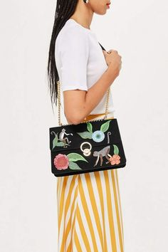 Topshop Monkey Floral Shoulder Bag - Milo money floral shoulder bag. Floral  Shoulder Bags, 3ae2544d35