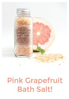 Pink Himalayan #mineral #salt  one of the purest salts on earth crystallized over 200 million years ago containing over 80 minerals and trace elements, some of the most notable being calcium, magnesium, potassium, copper and iron, this salt is considered to be the purest form of salt available. Himalayan salts are used in #baths to relax the body, stimulate circulation, sooth sore muscles, and remove toxins. | Bath Salts, Bath Soak Himalayan Salt, Pink #Grapefruit Himalayan Bath Salt…
