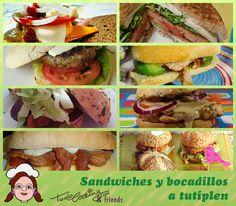 Una recopilación de sandwiches y bocadillos de los más sabrosa, de todo tipo, con panes diferentes y hasta hamburguesas caseras! No te lo pierdas!