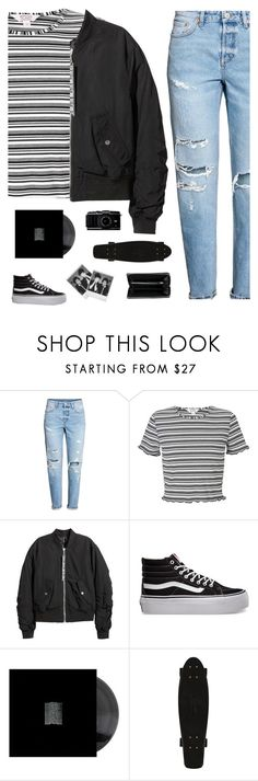"""Skater"" by genesis129 on Polyvore featuring Miss Selfridge, H&M, Vans, Polaroid and Balenciaga"