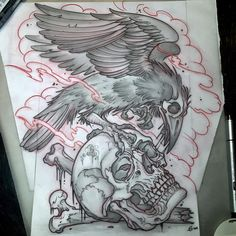This one will be fun if my client goes for it.. #atattooerslife #imagotattoo